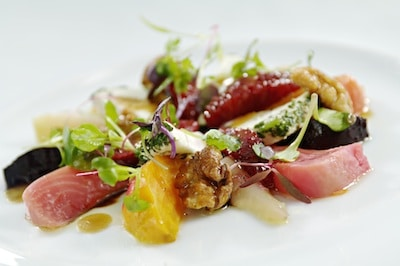 Roasted Beet Goat Cheese Salad at Spago Las Vegas