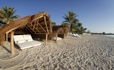Beach front at Esencia Estate, Mexican Riviera