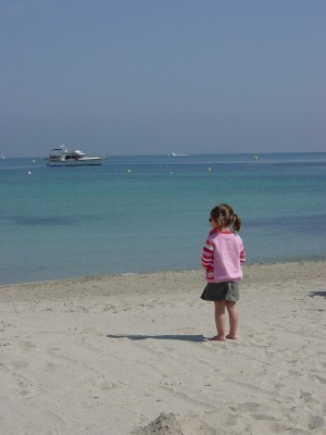 Child on the beach in Juan les Pins