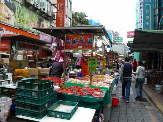Street market in Taipei