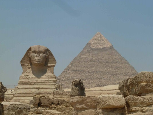 The Sphinx and Pyramid at Giza