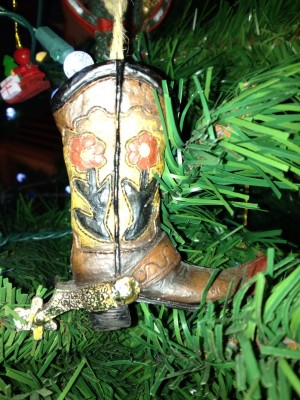Western boot ornament