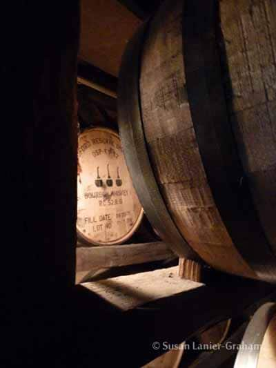 BOURBON BARRELS AT WOODFORD RESERVE