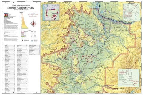 North Willamette Valley AVA Map.
