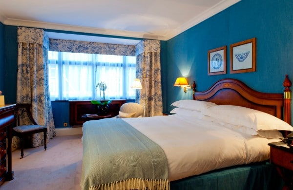 Classic Double Room at The Capital Hotel in London. Photo courtesy Capital Hotel.