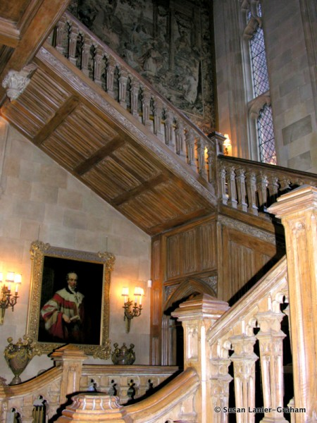 Oak staircase at Highclere Castle