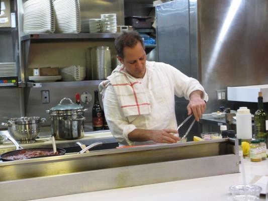 Chef James Monaci in class