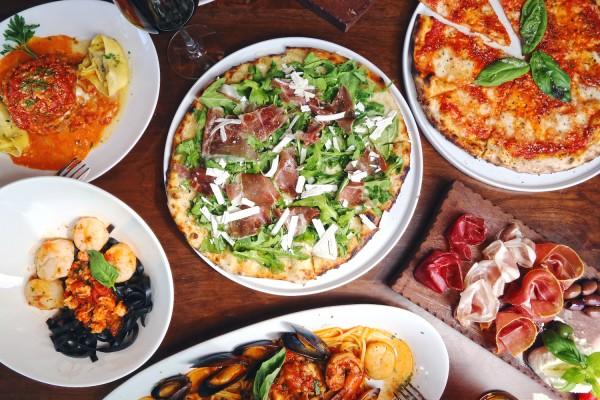 Dishes at Vivo Ristorante