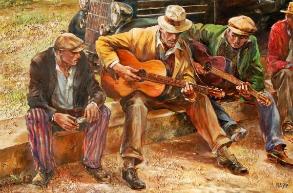 Depression Blues by Manfred Rapp. Photo courtesy Thunderbird Artists