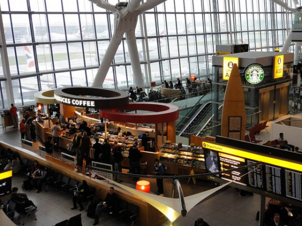 Starbucks at T5 airside at London Heathrow
