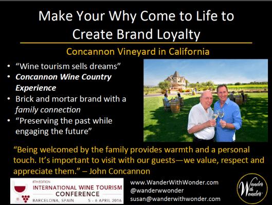 Wine tourism sells dreams
