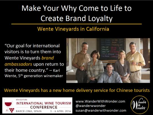 Wente Vineyards wants to turn tourists into brand ambassadors
