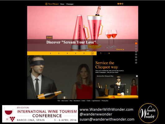 Veuve Clicquot evokes emotion with their branding