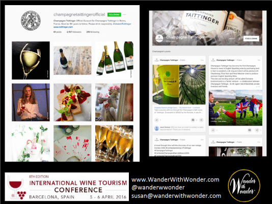 Champagne Taittinger social media sites target a more mature audience