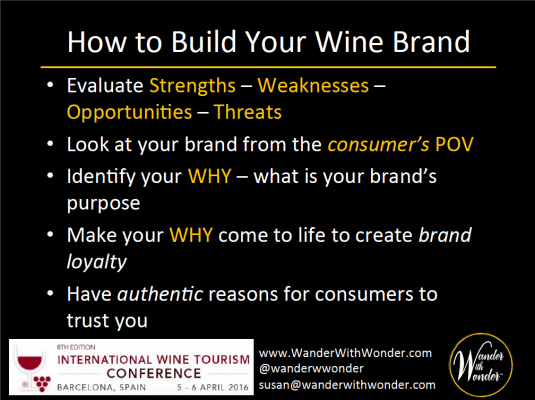 Building your wine brand has 5 steps
