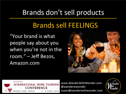 Brands don't sell products, brands sell feelings
