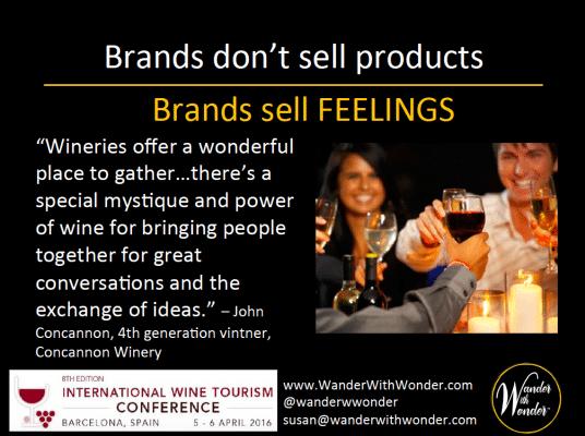 Wine is all about feelings