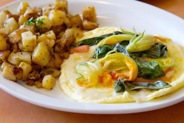 Squash Blossom Omelette. Photo courtesy Original Breakfast House